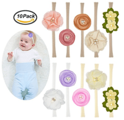 10PCS Baby Nylon Headbands Hairbands Hair Bow Elastics 6 4930244b0df