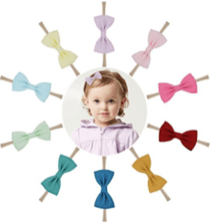 10PCS Baby Nylon Headbands Hairbands Hair Bow Elastics fc3c5d2ff5a