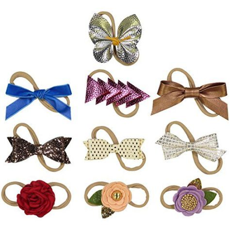 10 Pack - Hair Accessories for Girls Nylon Headbands.jpg d49cc5e99ea