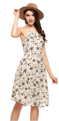 Flower Print Casual Dresses