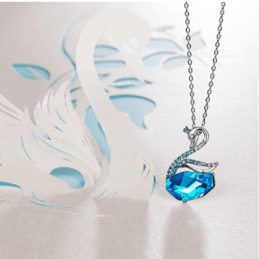 a2791b796 Deals Finders | Amazon : Swan Lake Engraved Love Blue Pendant ...