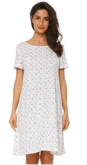 2018-05-28 19 32 08-Suzicca Cotton Printing Sleepwear Short Sleeves  Nightgown Knitted Sleep f11f1c8bf