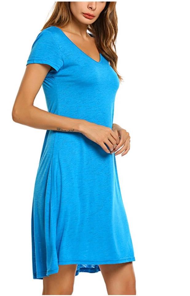 dc5dba550d027 Deals Finders | Amazon : Women's Summer Short Sleeve Casual Loose Tunic  Dress Sleep Dress Just $7.59 W/Code (Reg : $18.99) (As of 5/4/2018 11.15 PM  EDT) ...