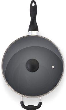 11 Inch Nonstick Deep Frying Pan - 4.6 Quart Sauté Pan 3