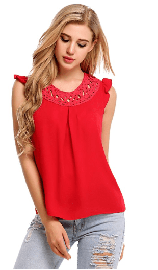 2018-06-14 14_46_19-Zeagoo Women's Chiffon Lace Sleeveless Shirt Blouse Tank Tops at Amazon Women's