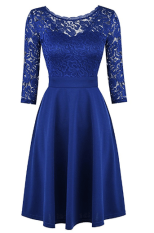 2018-06-14 17_14_12-Mixfeer Women's Vintage Floral Lace Cocktail Swing Dress With 3_4 Sleeve at Amaz