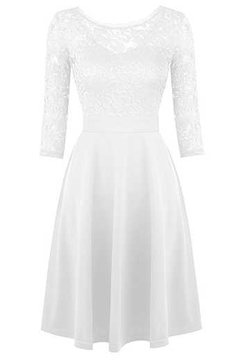 2018-06-14 17_14_47-Mixfeer Women's Vintage Floral Lace Cocktail Swing Dress With 3_4 Sleeve at Amaz