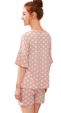 2018-06-14 23_45_56-SheIn Women's Summer Polka Dot Tee & Shorts Pajamas Set Sleepwear at Amazon Wome