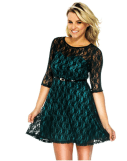 2018-06-15 00_07_26-Women's Cute Sheer Lace Three-Fourth Sleeve Dress with Belt Decor at Amazon Wome