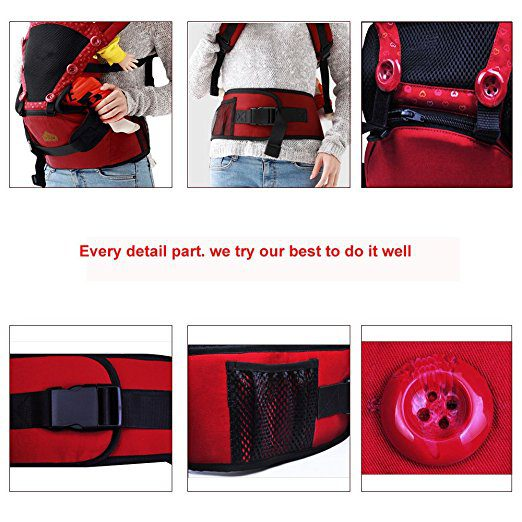 360 Ergonomic Baby Carrier with Sling Soft Hip Seat 5