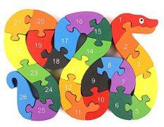 Alphabet Jigsaw Puzzle Building Blocks Animal Wooden Puzzle 1