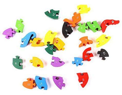 Alphabet Jigsaw Puzzle Building Blocks Animal Wooden Puzzle 2