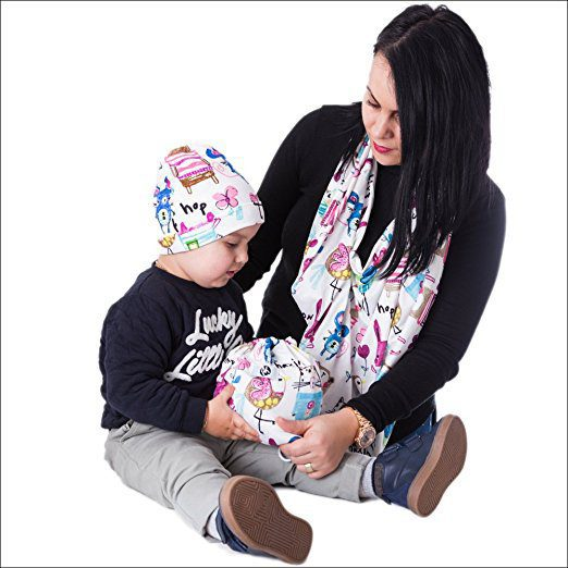 Breastfeeding Cover + Carrying Bag + Beanie Cap 2