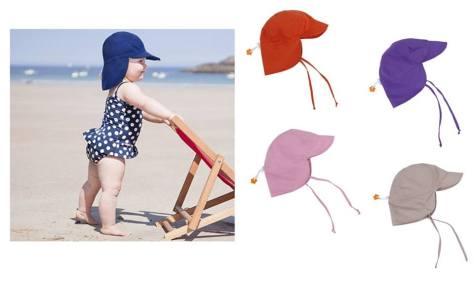 Children's UPF 50+ UV Sun Protection Sun Hat w Chin Strap & Neck Flap