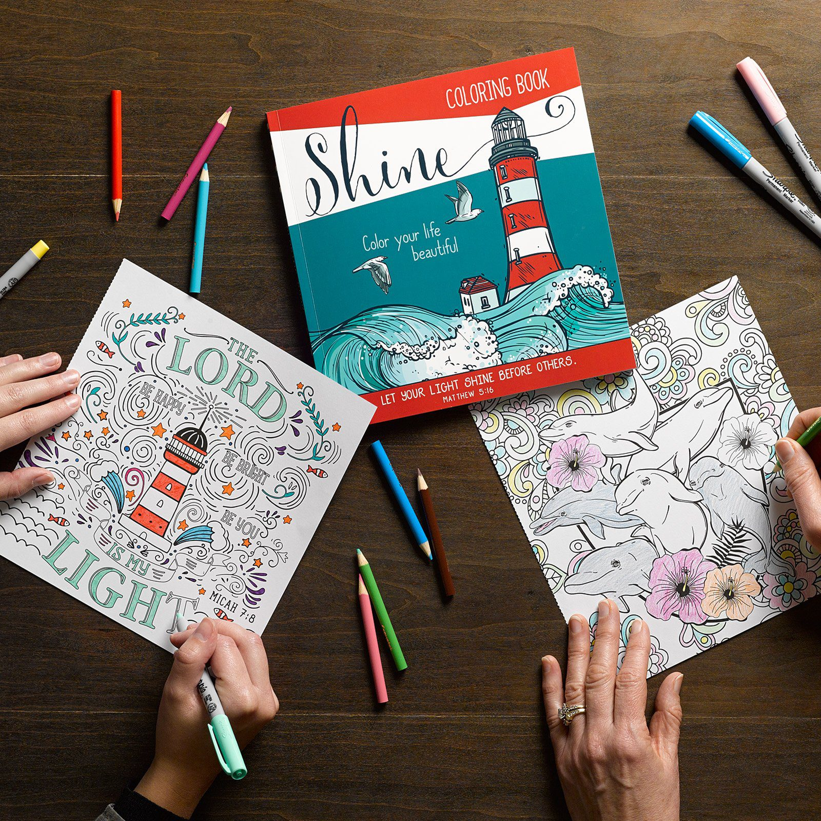Color Your Life Beautiful Inspirational Adult Coloring Book Paperback 2
