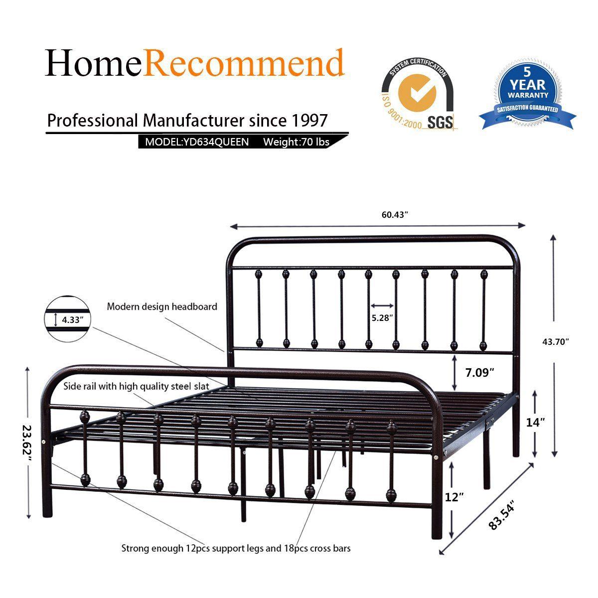 Dark-Copper-Metal-Platform-Bed 3