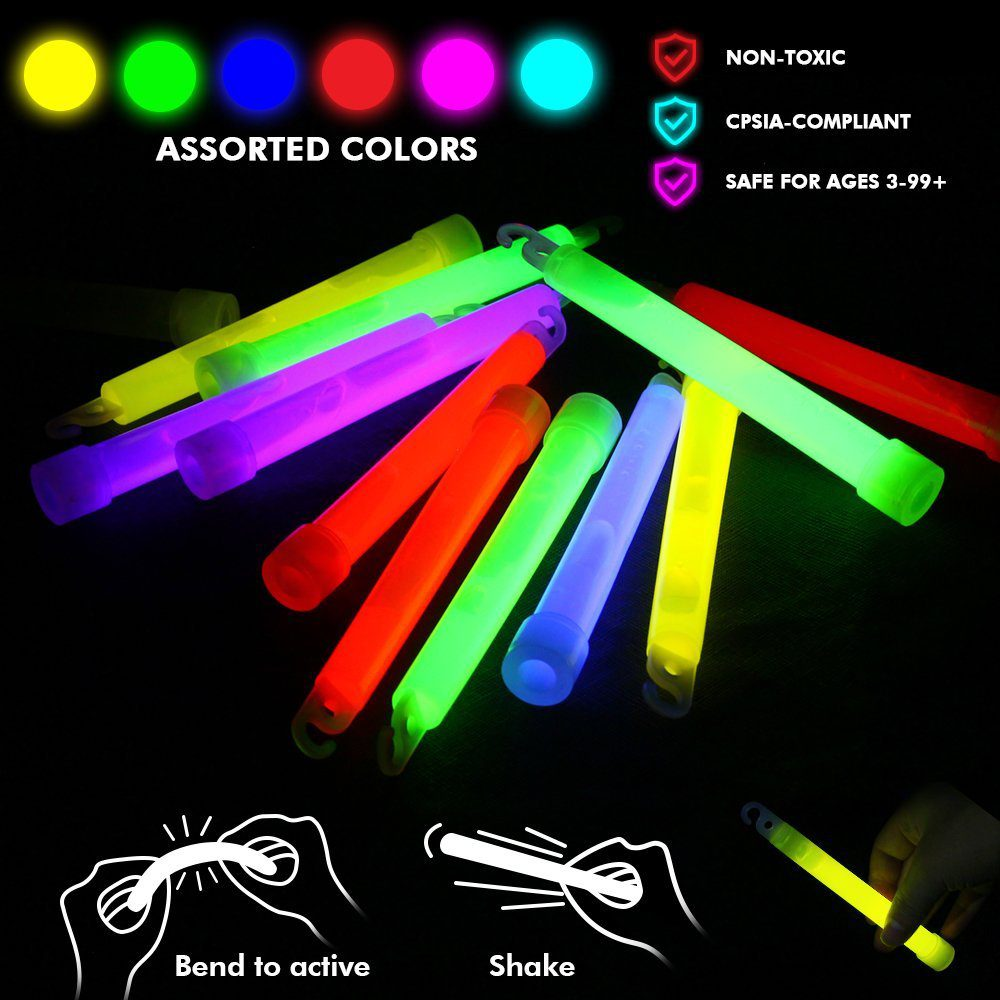 Glow Sticks Bulk 25 Count ( Whistle Shape ) 6