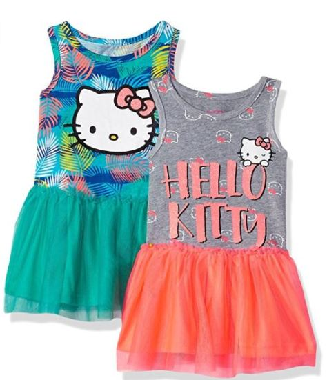 65ed5f5bf5bf3 Deals Finders | Amazon: Hello Kitty Baby Girls 2 Pack Embellished ...