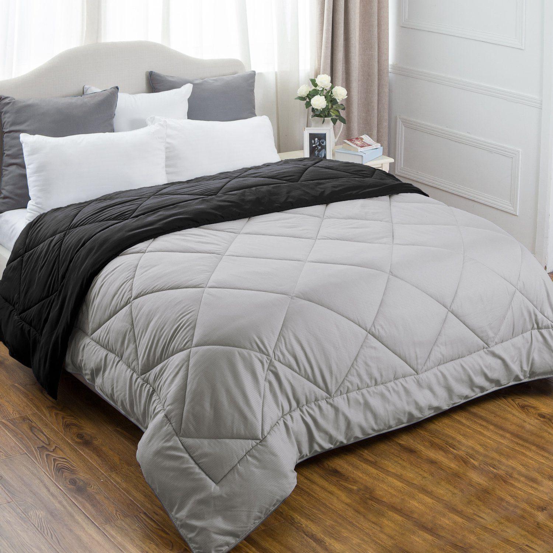 Twin Reversible Comforter Duvet Insert with Corner Ties