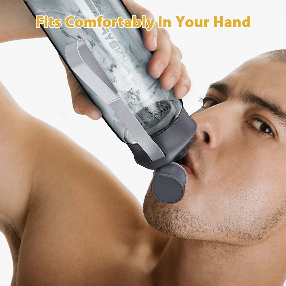 Water Bottle 28oz with Handle, BPA Free and Leak-Proof 6