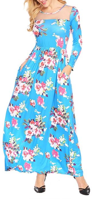Women's-Boho-Floral-Long-Sleeve-Mes-Patchwork-Casual-Maxi-Dress-With-Pocket 2
