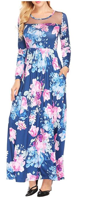 Women's-Boho-Floral-Long-Sleeve-Mes-Patchwork-Casual-Maxi-Dress-With-Pocket 3