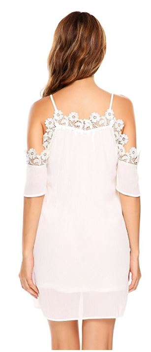 women-spaghetti-strap-short-sleeve-cold-shoulder-lace-floral-patchwork-sexy-midi-dress 2
