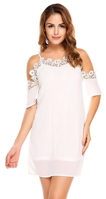 women-spaghetti-strap-short-sleeve-cold-shoulder-lace-floral-patchwork-sexy-midi-dress 4