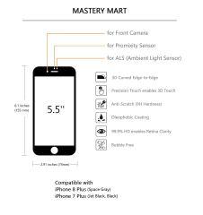 sale retailer bb0a2 9d2fc Deals Finders | Amazon : (1 PC, Black) iPhone 8 Plus, 7 Plus Glass ...