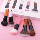 5 Pieces Cartoon Face Kabuki Makeup Brush Set 1