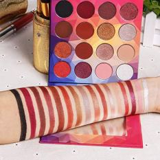 16 Colors Eye shadow Highly Pigmented Cream Makeup Palette with Mirror 3