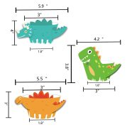 Dinosaur Cupcake Wrappers Toppers 3