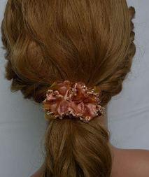 Set of 3 Handmade Hair Scrunchies Women Crystal Rhinestone Hair Elastics Ties 4