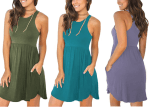 Amazon: Women's Sleeveless Loose Plain Dresses Casual Short Dress with Pockets for $14.73 (Reg. $26.99)