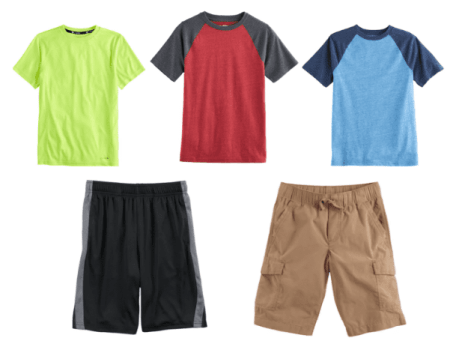 ad4d093f1 Here's a consolidation to get three shirts and three shorts for a boy for  just under $30.