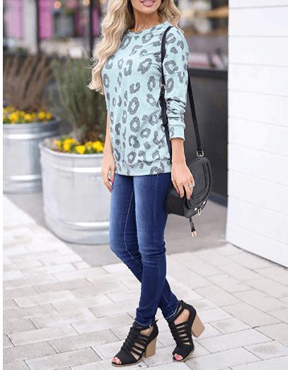 2018-09-16 19_16_23-Aifer Women's Casual Long Sleeve Leopard Print Crewneck Loose Fit Sweatshirts T
