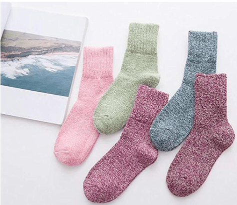 2018-09-19 13_02_12-Yuhan Pretty 5 Pairs Womens Winter Warm Thick Knit Wool Cozy Vintage Crew Socks