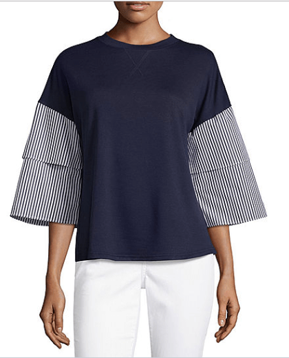 2018-09-20 21_32_05-Liz Claiborne 3_4 Tiered Sleeve Crew Neck T-Shirt-Womens - JCPenney.png