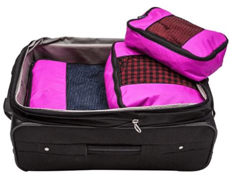 3 Piece Weekender Luggage Organizer Set 1