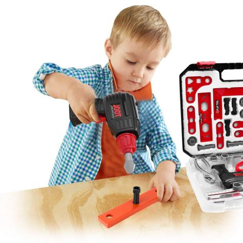 36 Pieces Boys Construction Toy Tools kit in Sturdy Case 2
