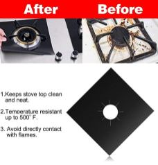 4-Pack Reusable Gas Stove Burner Covers 1