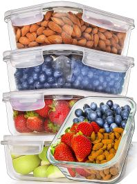 5-Pack,36oz] Glass Meal Prep Containers Glass