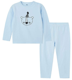 Baby Pure Cotton Long Sleeve Children Thermal Underwear 1