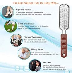 Coarse Callus Remover Stainless Steel Blade 1