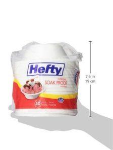 Hefty Everyday Foam Bowls (White, Soak Proof, 12 Ounce, 50 Count) 1