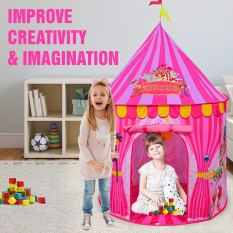 Kids Vibrant Pink Toy Circus Tent 2