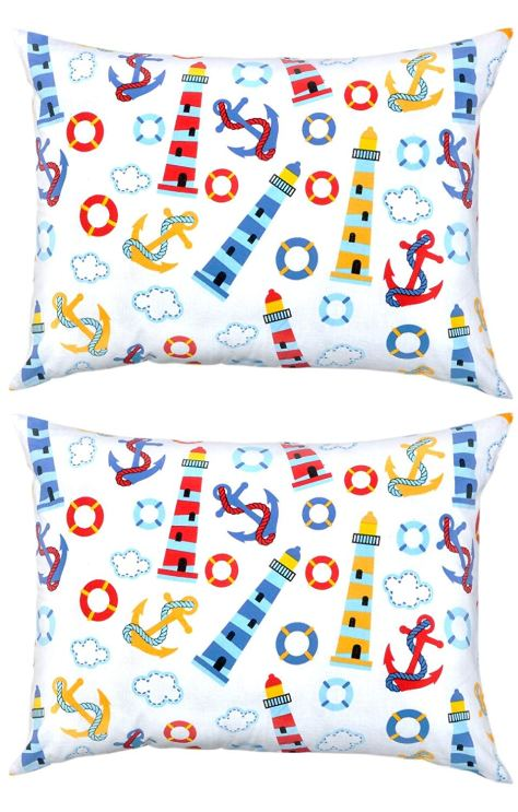 Pillowcase Set Light House - Pack of 2 Toddler Size 1