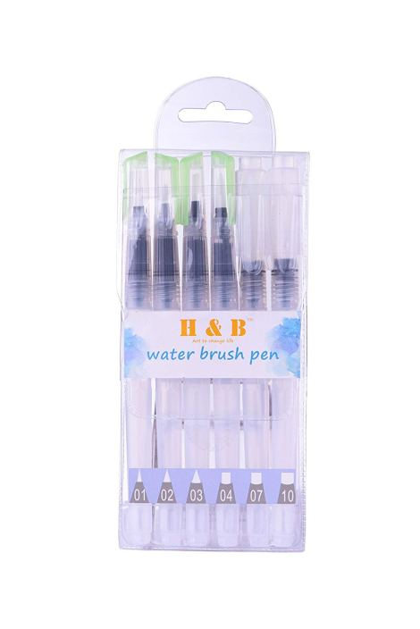Set of 6 Brush Tips for Watercolor Painting 4