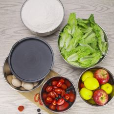 Stainless Steel Mixing Bowls Set with Lids 3