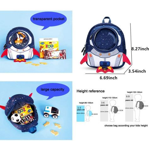 Toddler Kids Backpack with Safety Harness Leash 2